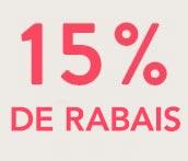 15% DE RABAIS